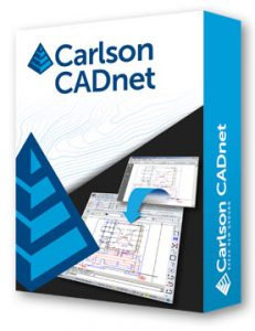 Carlson CADnet software for surveying construction layout