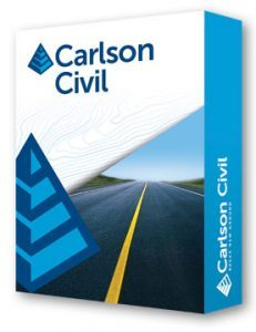 Carlson Civil module software for surveying construction layout