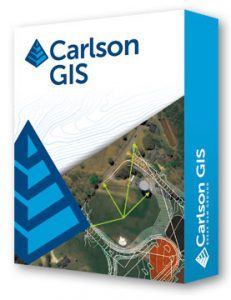 Carlson GIS software for surveying construction layout