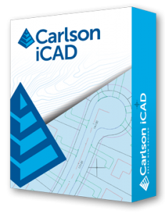 Carlson iCAD software for surveying construction layout