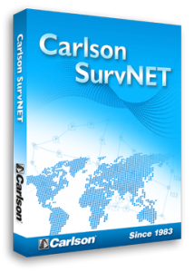 Carlson SurvNET software for surveying construction layout