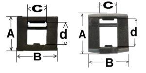 Case latch dimensions