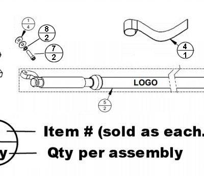 SECO Carlson Aluminum BiPod and Tripod parts diagram